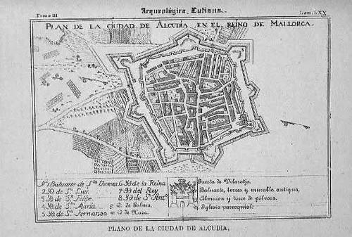 Plano de Alcudia