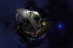 Night (gadl) Tags: panorama house night tripod gimp projection maison nuit 360 sintmaarten stereographic hugin enblend colebay mathmap almondgrove stereographicprojection 303sph