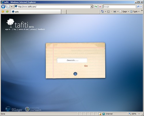 Tafiti: Microsoft's New Search Engine