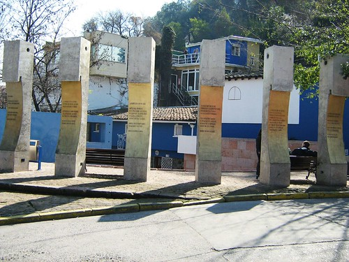 Stone Pillars outside La Chascona