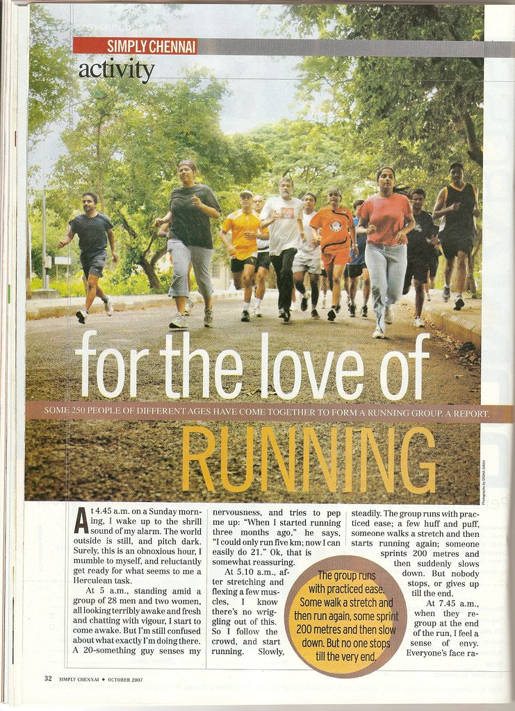 Chennai Runners in India Today - page 1