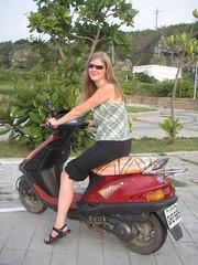 lookin good (LarrynJill) Tags: travel family heidi asia taiwan scooter motorbike transportation picnik