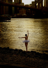 Tiny Dancer (Rick Elkins) Tags: newyorkcity newyork skyline brooklyn lights ballerina bravo dusk manhattan shoreline brooklynbridge eastriver themoulinrouge magicdonkey beautifulcapture abigfave artlibre anawesomeshot superaplus aplusphoto flickrplatinum superbmasterpiece infinestyle goldenphotographer ithinkthisisart blackribbonbeauty focuslegacy theperfectphotographer rickelkins