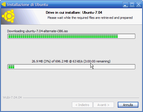 Fig. 4 - Installare Linux da Windows - download Ubuntu versione alternate