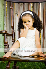 Woo hoo! (diyosa) Tags: brown white grass dress naturallight attitude pout rockingchair vallejo grumpy headband