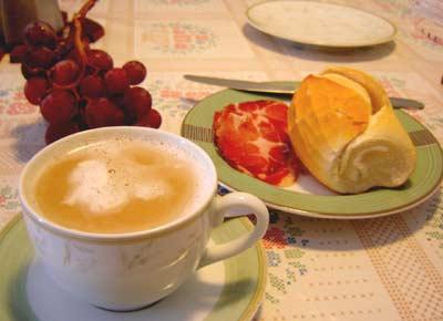 Fim de férias e o café da manhã