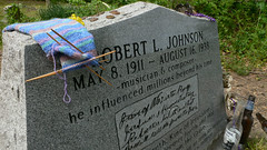 At Robert Johnson's Marker in Greenwood, MS