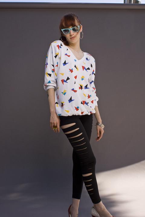 80's confetti sweater for sale!*