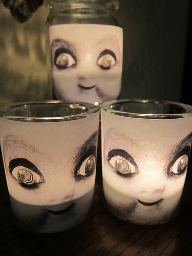 Creepy Doll Candles