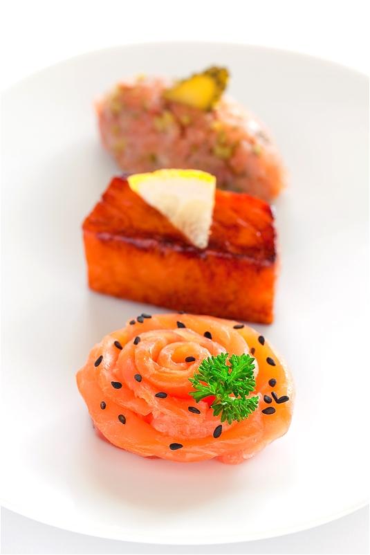 Trio of Salmon