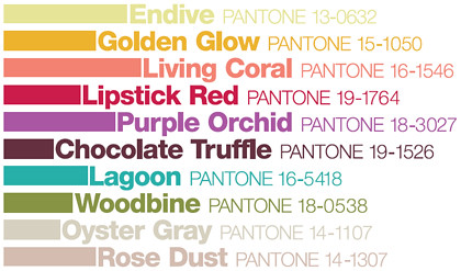 Pantone Fall Colors 2010