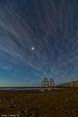 Mirando a Jupiter en Calblanque (Carlos J. Teruel) Tags: longexposure espaa noche mar nikon nightshot paisaje explore murcia nubes nocturna nocturnas 2010 d300 largaexposicion calblanque tokina1116 xaviersam