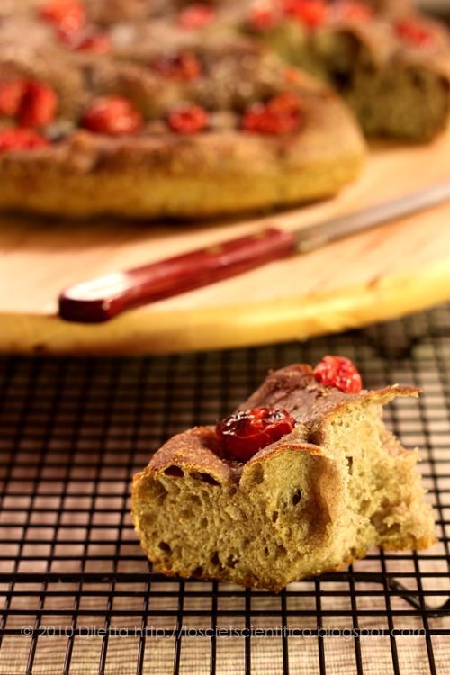 Grano Arso Focaccia  & Cherry Tomatoes - Bite