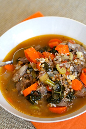 Oxtail Stew with Wheat Berries, Carrots, and Kale 2