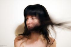 (danielle kiemel) Tags: ireland selfportrait motion girl female hair power distorted fear young flip brunette breathe senseless dissociation daniellekiemel