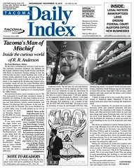 Tacomic Book on Front Page of Tacoma Daily Index