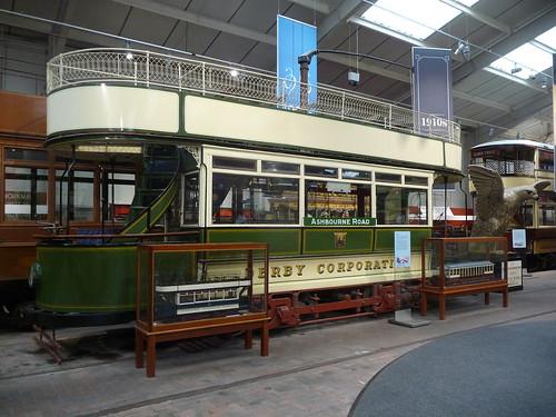 Derby Corporation Tramways 1, National Tramway Museum, Crich Tramway Village, Derbyshire  - flckr - woodytyke