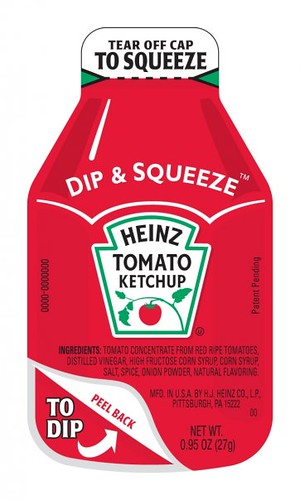 ketchup, heinz, package, dip, squeeze, fries
