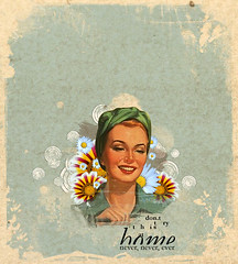dont try this at home (medialunadegrasa) Tags: flowers home vintage this dont 50s try juancarlos