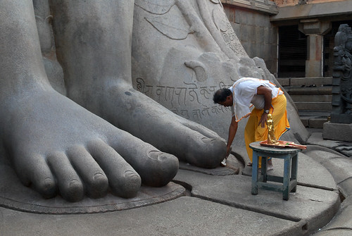 feet of Gomateswara statue