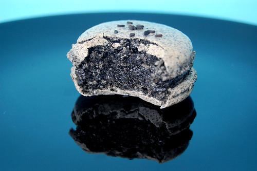 Inside a Black Sesame Macaron