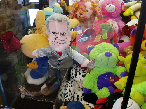 Nixon in the claw machine