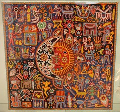 Huichol Bead Painting (Teyacapan) Tags: city art mexico beads folk paintings ciudad yarn museums artes populares huichol
