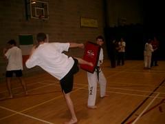 UCD TKD Club Training - UCD Sports Centre (October 2003) (irlLordy) Tags: 2003 ireland dublin lynch dan dave club training october kick taekwondo tkd ucd sportscentre lanky mrlynch
