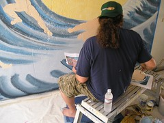 P1010022 (Kurt Christensen) Tags: art beach painting mural surfer gilgobeach gilgo