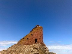 On top of the world (Mippzon) Tags: blue sky castle ruin bornholm hammershus