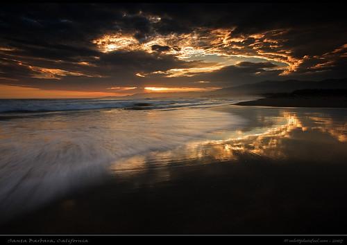 beach sunset sky cloud surf photofool seascape santabarbara photofool