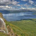 Waterfall on Nuolja, Abisko, Swedish Lappland