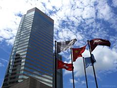 flag five (jobarracuda) Tags: sky building lumix hongkong flags fz50 panasoniclumix hongkongflag dmcfz50 jobarracuda