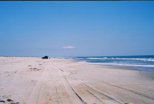ocracoke island shore line by rewhitt.
