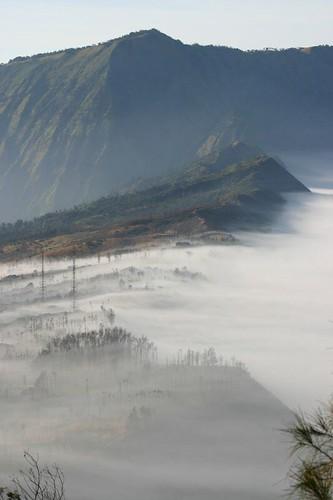 Fog clad Cemoro Lawang...
