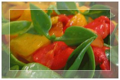 Red-YellowPeppers&MiddayFlowerSalad-NewsFromTheKitchen-Helene