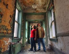 Two views (Timothy Neesam (GumshoePhotos)) Tags: new york windows urban abandoned buffalo hallway together toni timothy exploration hdr ue neesam photomatix wallachy
