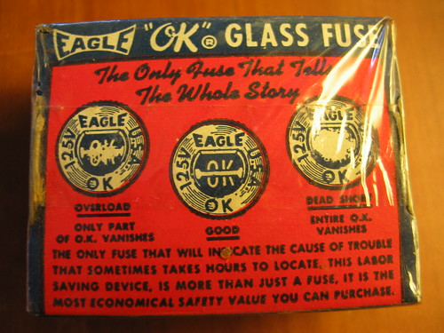 "Eagle ""OK"" glass fuses"