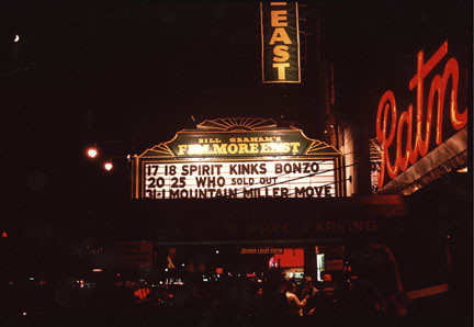 Fillmore East marquee 1969