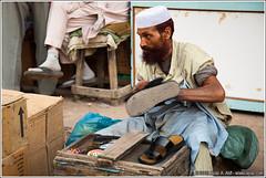 Shoe Polish (wwwayazdotcom) Tags: pakistan man market karachi sandal sindh shoepolish empressmarket saddar