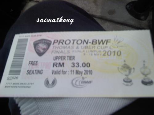 Thomas Cup Ticket