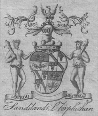 The 1764 coat of arms of the Sandilands, Lords Torphichen.