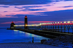 Grand Haven lighthouse Grand Haven Michigan  - Click photo for **LARGE VIEW ON BLACK** (Michigan Nut) Tags: longexposure nightphotography pink sunset wallpaper lighthouse beach water bulb geotagged michigan lakemichigan greatlakes nautical grandhavenmichigan michiganstateparks grandhavenlighthouse lakemichigansunset nx2 d700 lighthousephotos sunsetwallpaper michiganslighthouses lighthousewallpaper