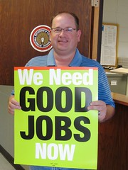 Chris Gulbrandson of IBEW Local 430 encourages congress to act on a meaningful jobs bill.