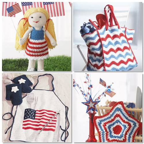 Mosaic of 4th of July Crochet Projects
