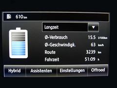 Touareg 2 Verbrauch (SJFoto1) Tags: auto berlin car vw sedan computer volkswagen jeep offroad 4x4 display super info petrol hybrid suv navi wolfsburg touareg wob 4wheel benzin verbrauch allrad bordcomputer