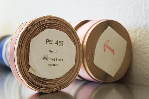 Satinband rosa pon 451 10 mètres Schweizerfabrikat