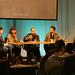 """Mary Monahan, Gina Lemoine, Jorge Tacla, Josh Marcantel y Esther Robinson en la mesa redonda """"El realismo contemporáneo en el cine norteamericano"""""""
