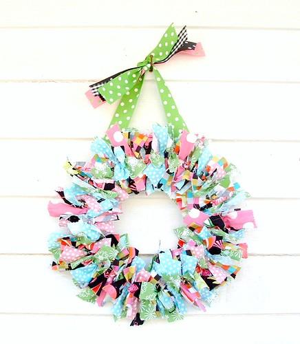 fabric rag wreath   RagWreath
