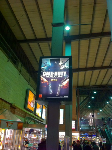 Call of Duty: Black Ops Poster was all over the place in München on 9th Nov.